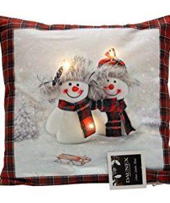 cuscino led pupazzi di neve